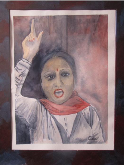 Eliane Robin - Femme indienne