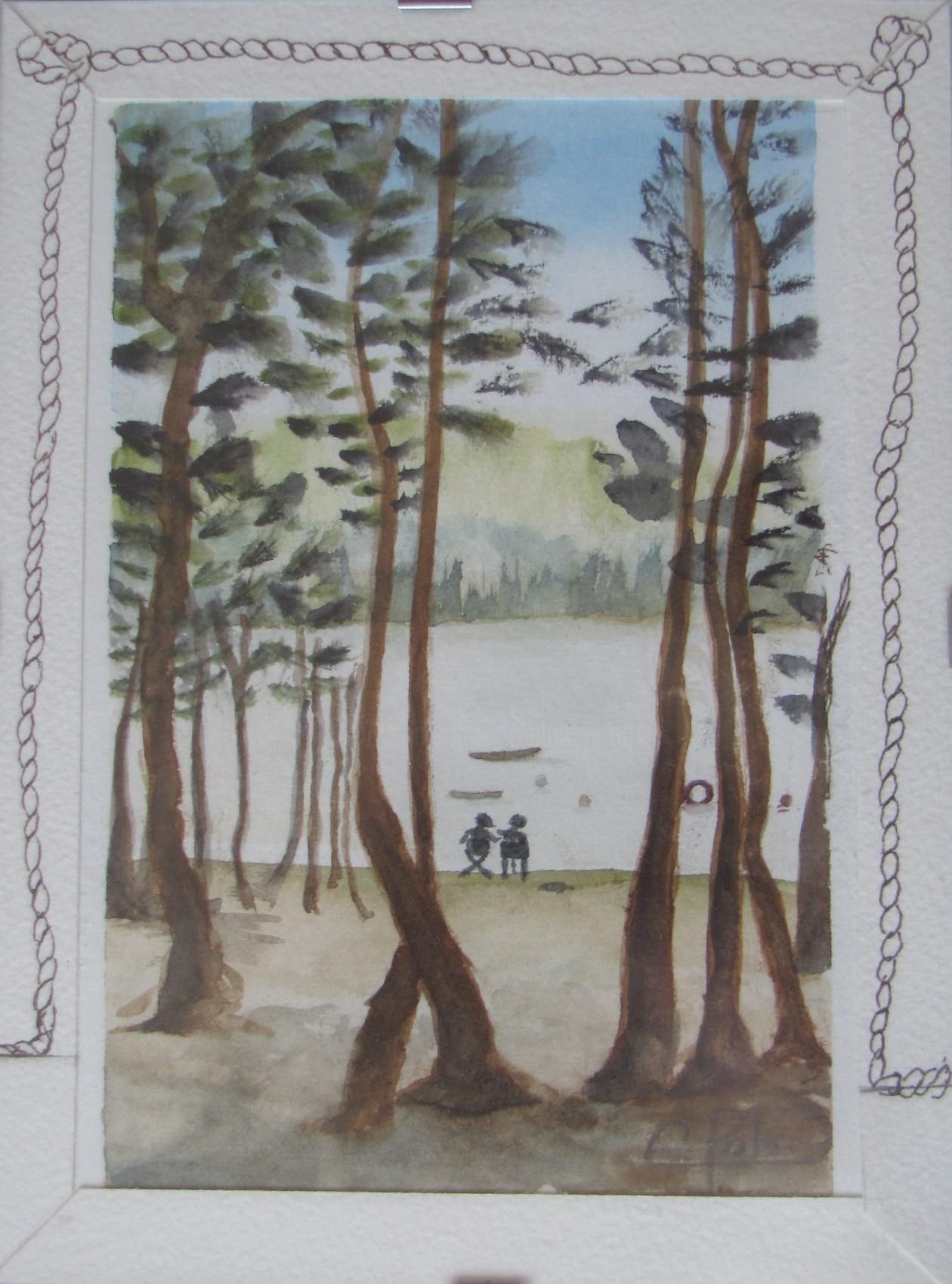 Eliane Robin - Au bord du lac